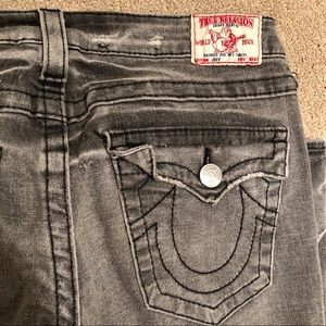 VINTAGE TRUE RELIGION Flare Gray Jeans